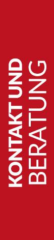 Roter Banner von Hafels Umzüge mit der Aufschrift: Kontakt und Beratung