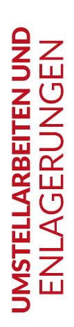 Weißer Banner von Hafels Umzüge mit der Aufschrift: Umstellarbeiten und EInlagerung