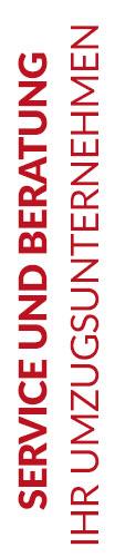 Weißer Banner von Hafels Umzüge mit der Aufschrift: Service und Beratung, Ihr Umzugsunternehmen